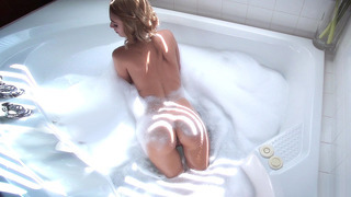 Erica Fontes soaping her sexy body in the bathroom Thumbnail