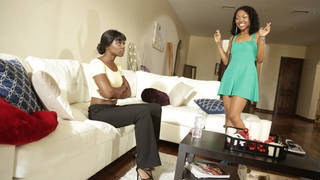 Two ebony girls making up after arguments Thumbnail