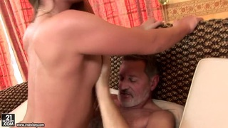 Teen Cathy Heaven has nice screw with old man Thumbnail