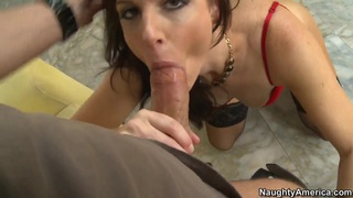 Hot brunette India strips and sucks Thumbnail