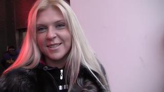Amy in slutty blonde enjoying porn hard core in restroom Thumbnail