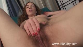 Sammy Grand masturbates her hairy pussy Thumbnail