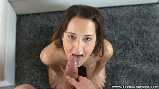 Young couple does first anal and facial