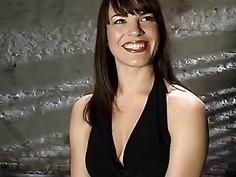 Bondage fun for a lustful brunette