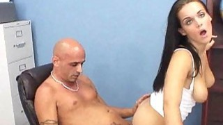 Schoolgirl spreads her legs for her 1st aged cock Thumbnail