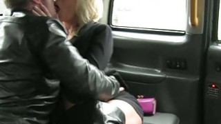Nasty amateur couple fucking in the cab while being recorded