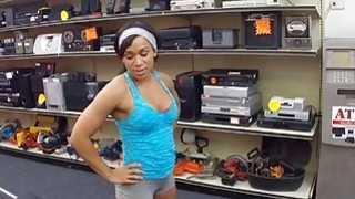 Fit black MILF agrees to workout naked for extra money Thumbnail