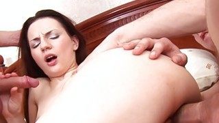 Both hard dicks fuck sexy amateur chick in anal Thumbnail