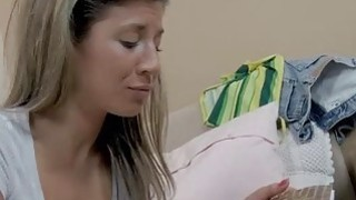 Little teen slut Stephanie sucks off and railed by big dick Thumbnail