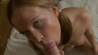 Cutie gets zealous doggy style sex at the kitchen Thumbnail