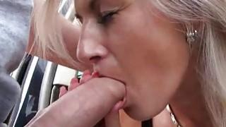Hitchhiker hottie Alena fucked in public