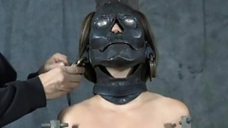Bounded beauty is dripping juicy from her torture