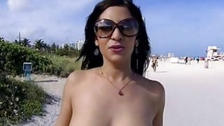 Pretty darling mesmerizing guy with her blowjob Thumbnail