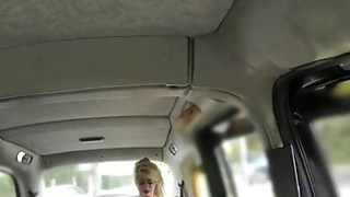 Made up busty blonde banged in fake taxi Thumbnail