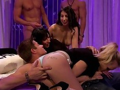 Horny guests groupsex in Foursome house