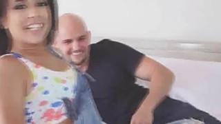 Perfect Latina GF rides big cock Thumbnail