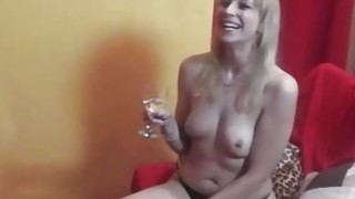 Amazing backstage time with hot czech MILF Thumbnail