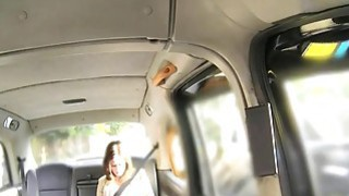 Busty brunette fucked by fake taxi driver Thumbnail