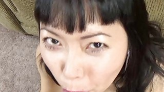 Yuka Ozaki is on her knees and sucking dick Thumbnail
