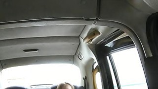 Slim amateur passenger fucked in back of cab for free Thumbnail