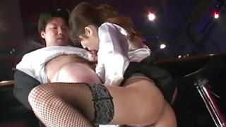 Office bimbo Rino Asuka blows on a big dick Thumbnail