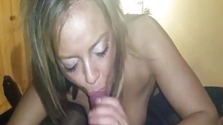 White girl deepthroating my black cock like a pro Thumbnail