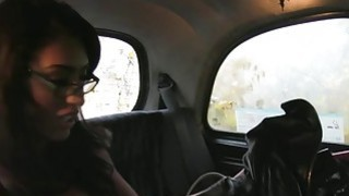 Busty babe fucks in fake taxi in public Thumbnail