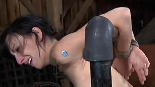 Gagged cutie with clamped nipples acquires fun Thumbnail