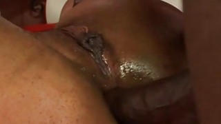 Sexy and naughty ebon chick gets fat dick in ass