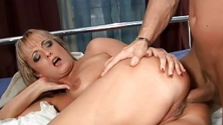 Pussy of mature sweetheart is roughly gangbanged Thumbnail