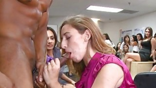 Sweet hotties are pleasuring man with blowjobs Thumbnail