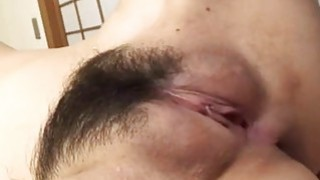Oriental enjoys drilling for her furry cumhole Thumbnail