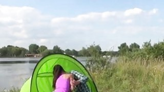 Teen fucked in prison Eveline getting pounded on camping site Thumbnail