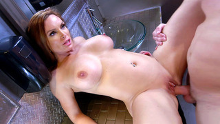 Big boobed Diamond Foxxx having steamy sex in the toilet Thumbnail