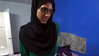 Arab babe with glasses sucks cocks for money Thumbnail