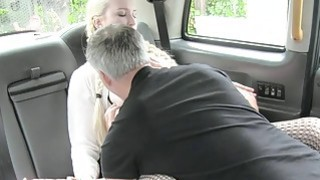 Beautiful blonde babe gets twat screwed in the backseat Thumbnail