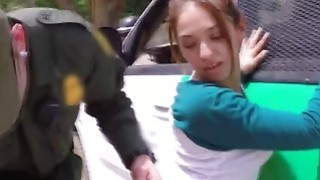 Young Brunette Stripper Is Taking Hard Pussy Beating By The Car Thumbnail