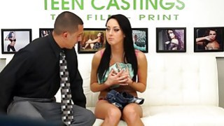 Sabrina Banks takes a rough pounding on the couch