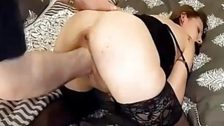Brutally fisting his GFs loose pussy in bondage Thumbnail