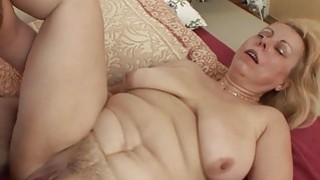 Saggy Breasted Blonde Mature Stepmom Anal Fucked Thumbnail
