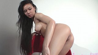 Asian girl playing with her pussy Thumbnail
