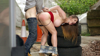 Hungarian bombshell Cathy Heaven gets assfucked outdoor Thumbnail