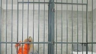Horny blonde blows prison guard Thumbnail