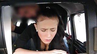 Pervert driver fucks sexy amateur babe for taxi fare Thumbnail