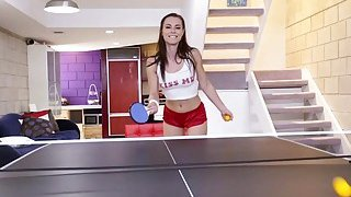 Teen tries table tennis and anal sex Thumbnail