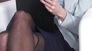 Blonde secretary bangs her young boss Thumbnail