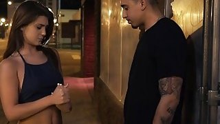 Teen cutie Jojo Kiss gets mouth taped and fucked in dark alley Thumbnail
