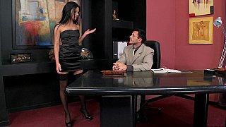 Brunette enjoys hot office sex Thumbnail