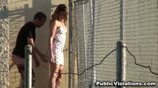 Prison style blowjob and dirty outdoor fuck. Thumbnail