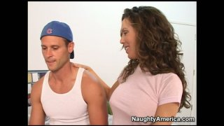 Sexy and curvy mom Paige Rene has a crush on young dude Thumbnail